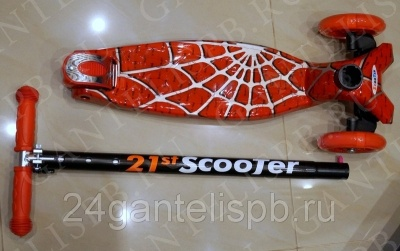 САМОКАТЫ SCOOTER 21ST MAXI PRINT SPIDERMAN